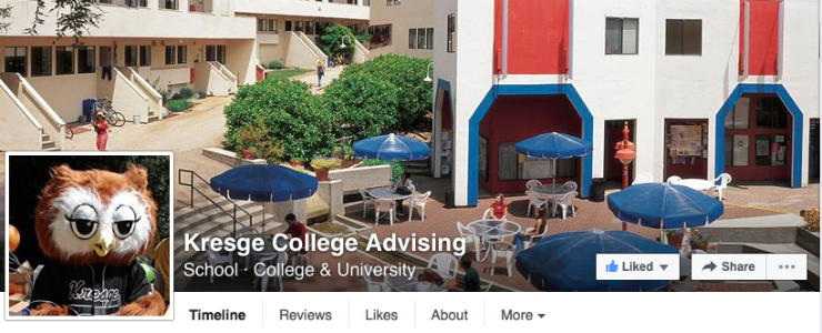 Like Kresge College Advising Facebook page